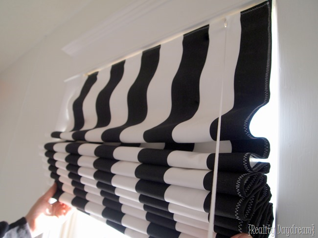 DIY Roman Shades ~ using your existing mini-blinds!