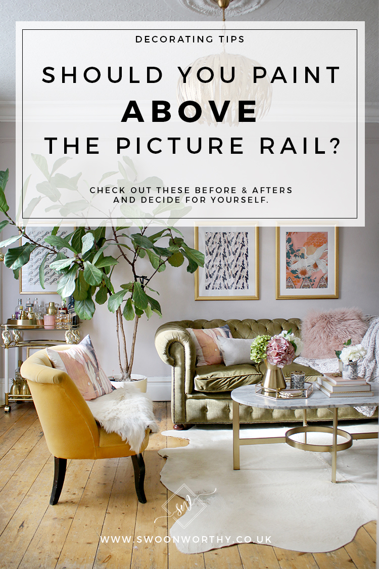 Should You Paint Above the Picture Rail