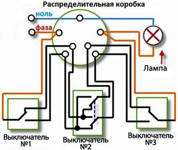 Схема подсоединения выключателя проходного – Схема подключения проходного выключателя. Разбираем схему подключения проходных выключателей на видео