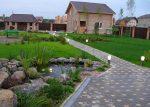 Дорожки во дворе частного дома своими руками – красивые садовые дорожки своими руками на фото