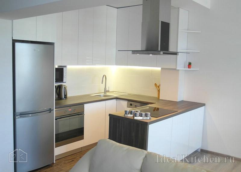 3a50b46994a5c Дизайнерское оформление кухни фото – Кухни в современном стиле — 187  реальных фото