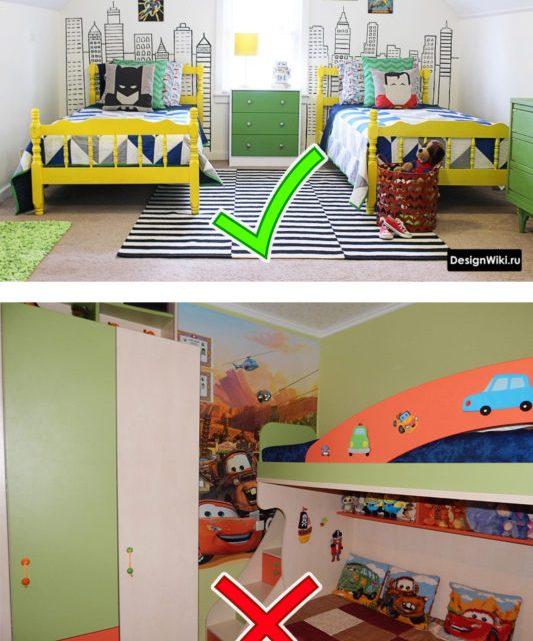 Дизайн детской для мальчиков 2 – 4 шага и 108 фото