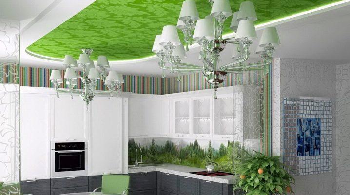 Фото натяжных потолков на кухне со светильниками – Натяжной потолок на кухне — отзывы и недостатки (75 фото): есть ли проблемы с сатиновым потолком