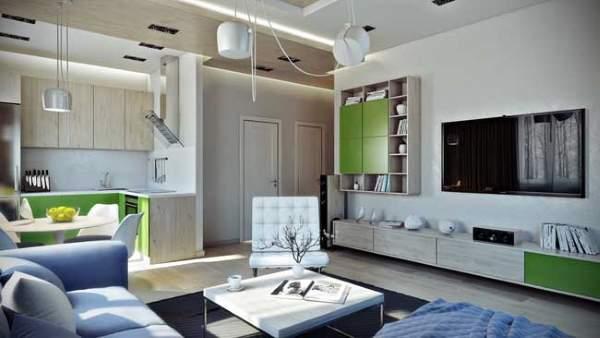 Идеи дизайна однушки – Красивый интерьер однокомнатный квартиры — с ребенком и без, малогабаритной и не только.