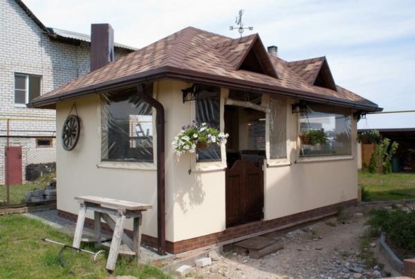 Пристроенная летняя кухня к дому – фото и пристройка во дворе частного дома