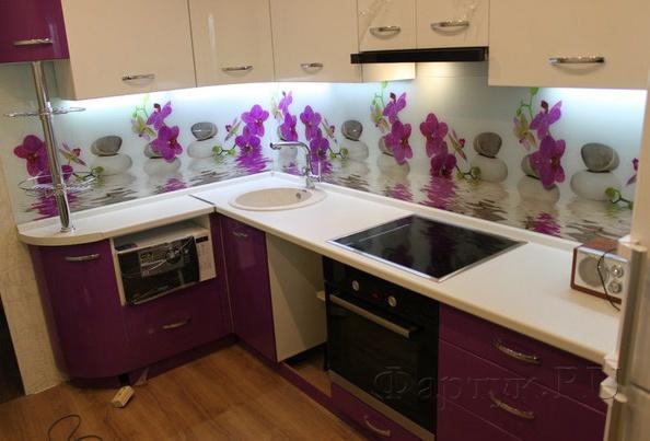 Скинали для фартук кухни фото – Фото скинали для кухни и фартуков из стекла на фиолетовой кухне. — Фартук.RU