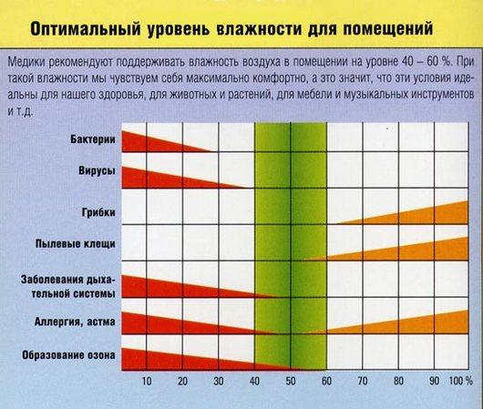 В квартире влажность 70 процентов – какая должна быть и на что это влияет