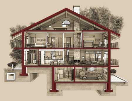 картинки схемы домов проекты домов и коттеджей бесплатно